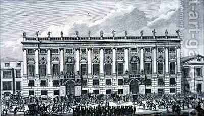 Palace of Prince Eugene of Savoy Vienna by (after) Fischer von Erlach, Johann Bernhard - Reproduction Oil Painting