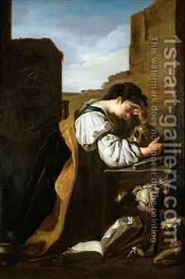 Melancholy by (after) Fetti or Feti, Domenico - Reproduction Oil Painting