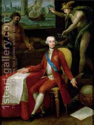 Portrait of Jose Monino the Count of Floridablanca by Gregorio Ferro - Reproduction Oil Painting
