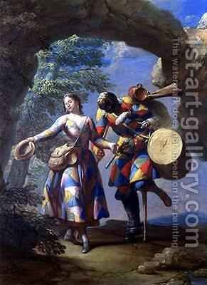 A Harlequin Returning from War by Giovanni Domenico Ferretti - Reproduction Oil Painting