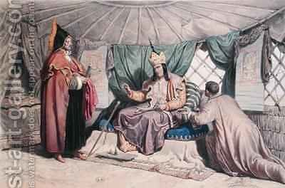 A Kalmuk High Priest with his Ghepi by (after) Ferogio, Francois Fortune Antoine - Reproduction Oil Painting
