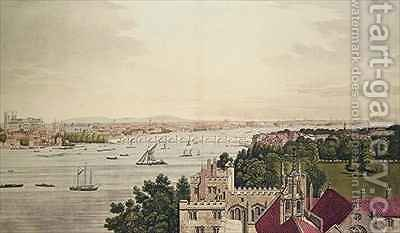View of London from Lambeth by (after) Farington, Joseph - Reproduction Oil Painting