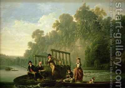 The Fishing Party by (after) Farington, Joseph - Reproduction Oil Painting