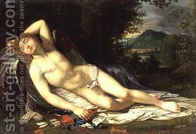 Cupid Reclining by (after) Fabre, Francois Xavier - Reproduction Oil Painting