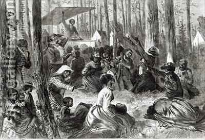 A Negro Camp Meeting in the South by (after) Eytinge, Solomon - Reproduction Oil Painting