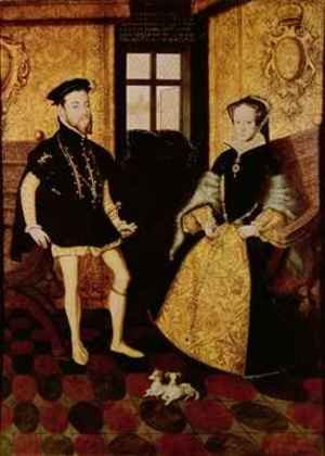 Hans Eworth reproductions - Philip II and Mary I