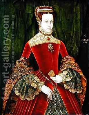 Huge version of Portrait of a Woman aged 16 previously identified as Mary Fitzalan Duchess of Norfolk