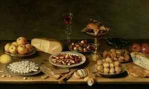 Famous paintings of Cheese : Banquet still life