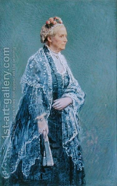 Margaret Ramshaw Armstrong 1807-93 by Henry Hetherington Emmerson - Reproduction Oil Painting