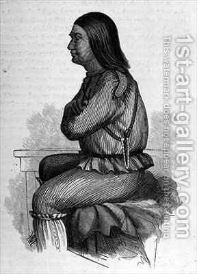 Red Leggins Chief at Fort Yukon by (after) Elliot, H. W. - Reproduction Oil Painting