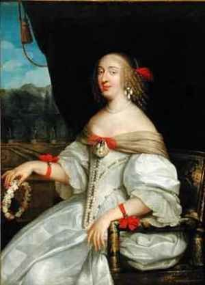 Portrait of Anne Marie Louise dOrleans 1627-93 Duchess of Montpensier