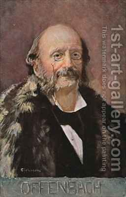 Portrait of Jacob Offenbach German composer by Albert Eichhorn - Reproduction Oil Painting