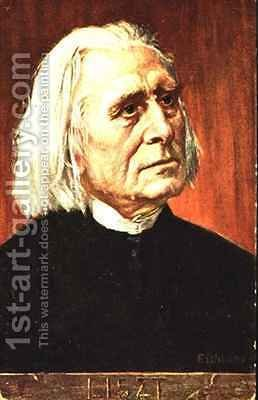 Portrait of Franz Liszt Hungarian composer and pianist by Albert Eichhorn - Reproduction Oil Painting