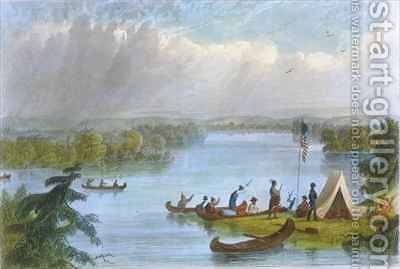 Lake Itsaca by (after) Eastman, Captain Seth - Reproduction Oil Painting