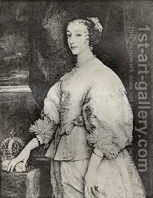 Henrietta Maria by (after) Dyck, Sir Anthony van - Reproduction Oil Painting
