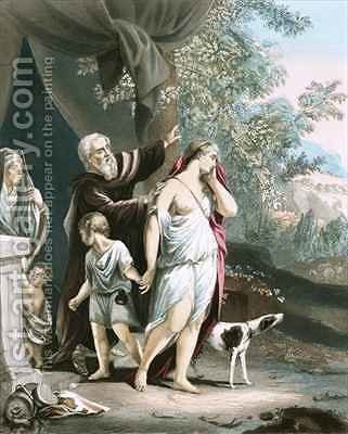 Hagar and her son departeth by (after) Dyck, Sir Anthony van - Reproduction Oil Painting