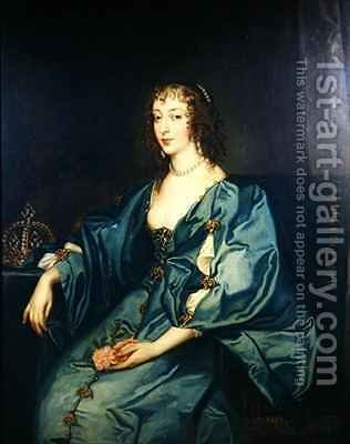 Queen Henrietta Maria by (after) Dyck, Sir Anthony van - Reproduction Oil Painting