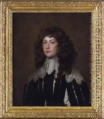 Portrait of Charles Cavendish by (after) Dyck, Sir Anthony van - Reproduction Oil Painting