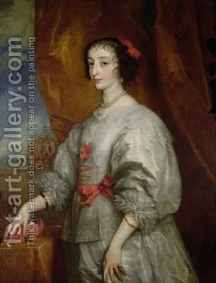 Queen Henrietta Maria 2 by (after) Dyck, Sir Anthony van - Reproduction Oil Painting