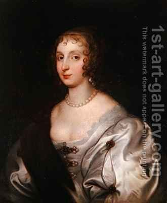 Lady Elizabeth Stuart by (after) Dyck, Sir Anthony van - Reproduction Oil Painting