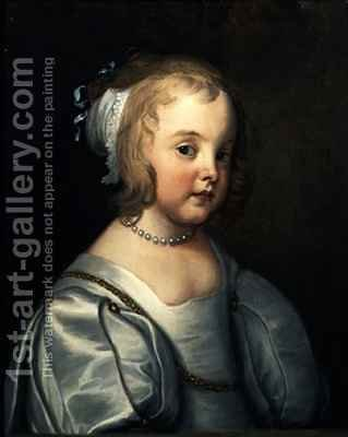 Portrait of a Young Girl by (after) Dyck, Sir Anthony van - Reproduction Oil Painting