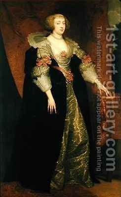 Margaret of Lorraine 1615-72 by (after) Dyck, Sir Anthony van - Reproduction Oil Painting