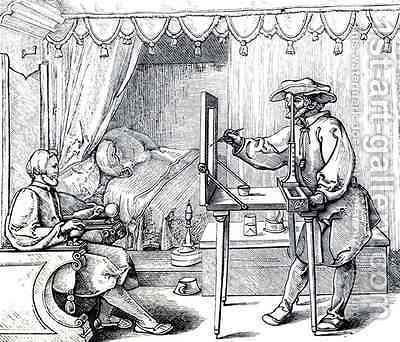Instruments of Mathematical Precision for Executing Portraits by (after) Durer or Duerer, Albrecht - Reproduction Oil Painting
