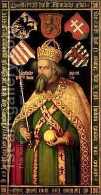 Emperor Sigismund Holy Roman Emperor King of Hungary and Bohemia 1368-1437 by (after) Durer or Duerer, Albrecht - Reproduction Oil Painting