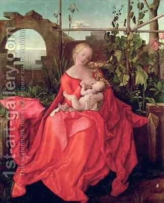 Virgin and Child Madonna with the Iris 2 by (after) Durer or Duerer, Albrecht - Reproduction Oil Painting