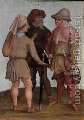 Three peasants by (after) Durer or Duerer, Albrecht - Reproduction Oil Painting