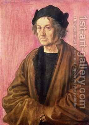Albrecht Durers Father by (after) Durer or Duerer, Albrecht - Reproduction Oil Painting