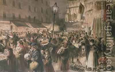 Lambeth Market by Godefroy Durand - Reproduction Oil Painting