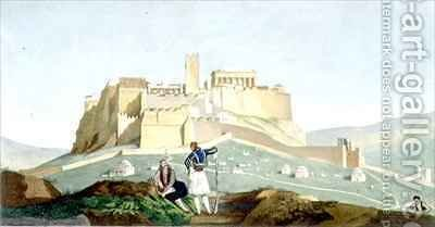 View of the Acropolis of Athens by (after) Dupre, Louis - Reproduction Oil Painting