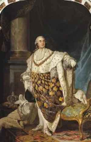 Reproduction oil paintings - Joseph Siffrein Duplessis - Louis XVI 1754-93 in Coronation Robes