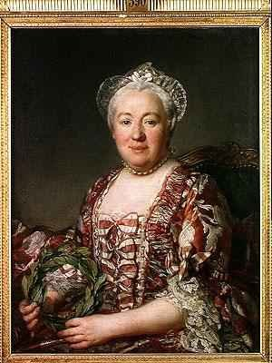 Reproduction oil paintings - Joseph Siffrein Duplessis - Portrait of Madame Denis 1712-90