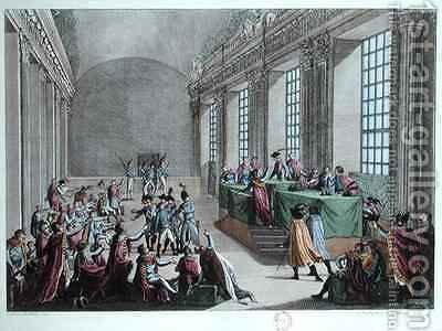 Coup dEtat of 18 Brumaire by (after) Duplessis-Bertaux, Jean - Reproduction Oil Painting