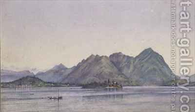 Baveno Lake Maggiore by Ada Dundas - Reproduction Oil Painting