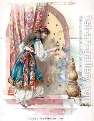 Fatima at the Forbidden Door by Ambrose Dudley - Reproduction Oil Painting