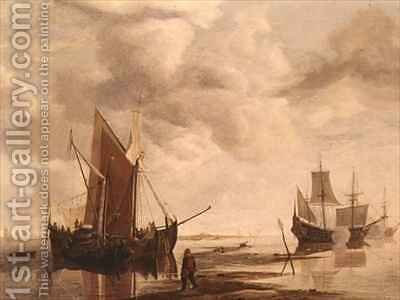 Calm Sea by Hendrick Dubbels - Reproduction Oil Painting
