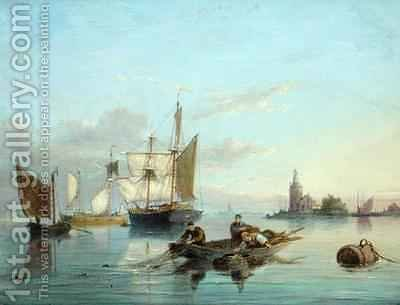 Cornelis Christiaan Dommelshuizen: On the Isle of Texel Holland - reproduction oil painting