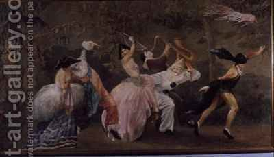 Pantomime by Gaston Doin - Reproduction Oil Painting