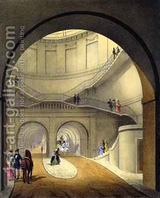 Entrance to the Thames Tunnel by (after) Dixie, B. - Reproduction Oil Painting