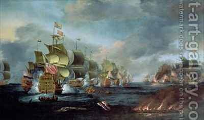 The Battle of Lowestoft by Adriaen Van Diest - Reproduction Oil Painting