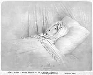 Reproduction oil paintings - Achille-Jacques-Jean-Marie Deveria - Madame Recamier 1777-1849 on her deathbed