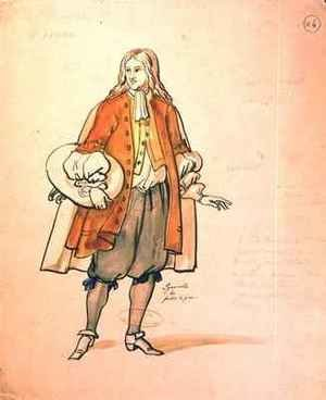 Costume design for an 1847 production of Don Juan 2