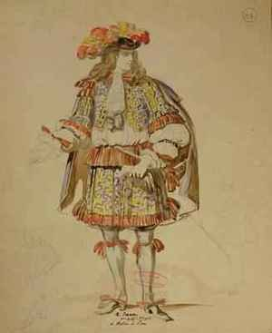 Reproduction oil paintings - Achille-Jacques-Jean-Marie Deveria - Costume design for an 1847 production of Don Juan 3