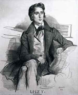Portrait of Franz Liszt 1811-86 August 1832