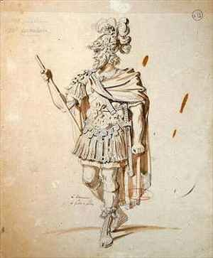 Reproduction oil paintings - Achille-Jacques-Jean-Marie Deveria - Costume design for the role of Le Commandeur