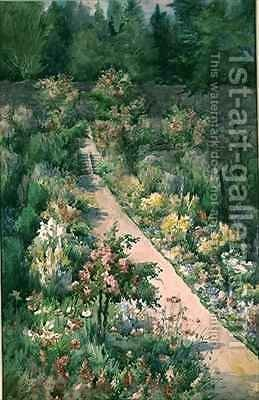 The Flower Walk by Hilda Devenish - Reproduction Oil Painting