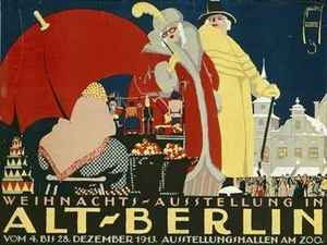 German advertisement for a Christmas fair in Berlin